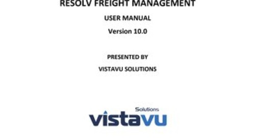 User Guide | Freight Management