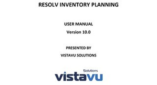 User Guide   Inventory Planning