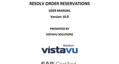 User Guide | Order Reservations