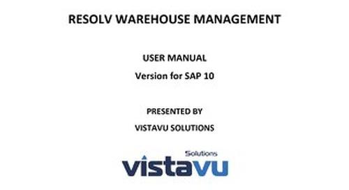 User Guide | Warehouse Management (HANA)