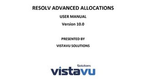 User Guide | Advanced Allocations