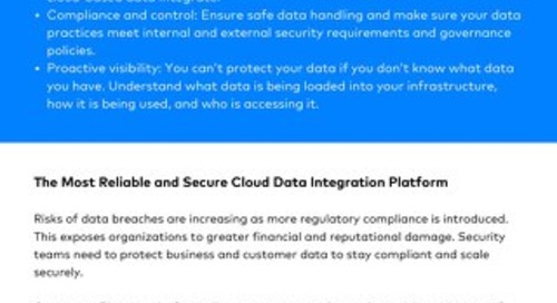 Fivetran security & compliance 1-pager