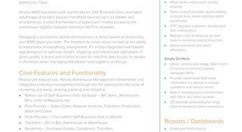 Warehouse Management (HANA) | Resolv Module Overview