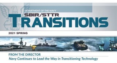 Article: Navy SBIR/STTR Transitions Spring 2021, POC Acquisition Editorial