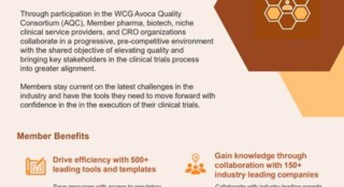 WCG Avoca Quality Consortium Overview