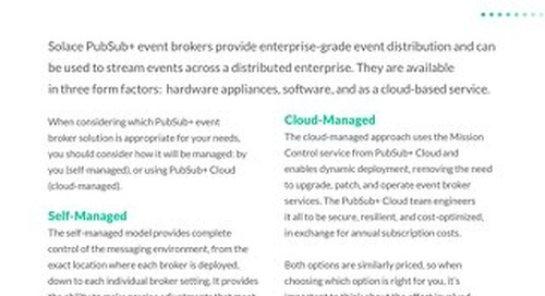 Self-Managed vs. Cloud-Managed Event Brokers