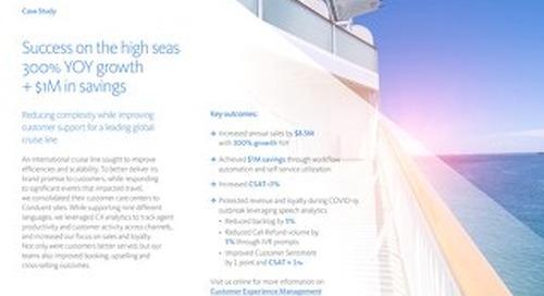 Success on the high seas 300% YOY growth + $1M in savings