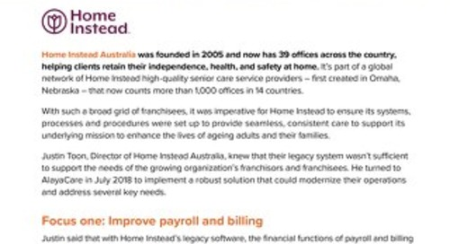 Case Study: Home Instead Australia