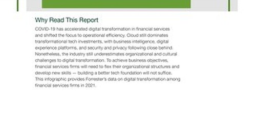 Forrester Infographic - The State Of Digital Transformation In Financial Services, 2021