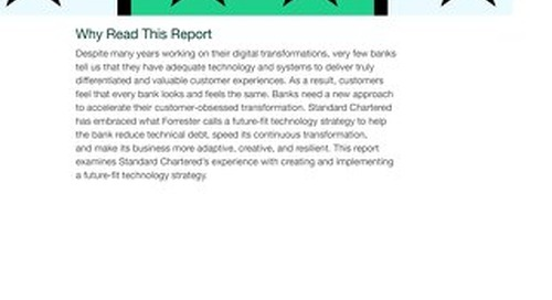 Case Study Standard Chartered Bank's Future-Fit Tech Strategy