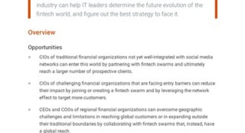 How the Fintech Swarms Will Change the Financial Service Industry in 2021