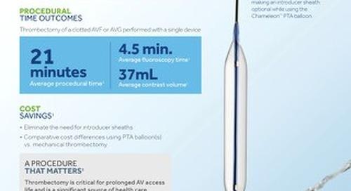 Info Sheet: Thrombectomy Technique Study With The Chameleon™ PTA Balloon Catheter