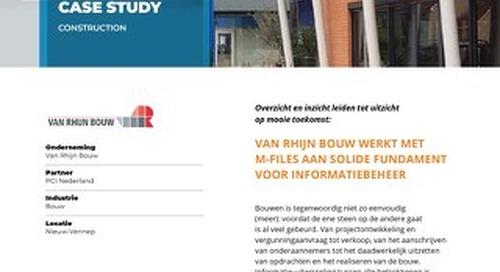 Case Study: Van Rhijn Bouw