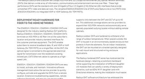 Radisys ES6001H and ES6004H Optical Network Terminals