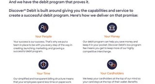 Discover Debit Solution Sheet for Community Banks