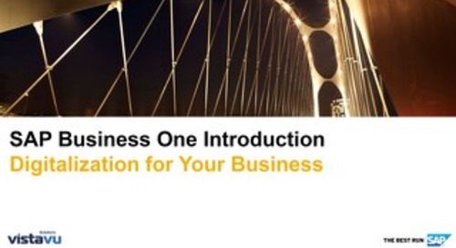 SAP Business One Introduction | Digitalization for Your Business