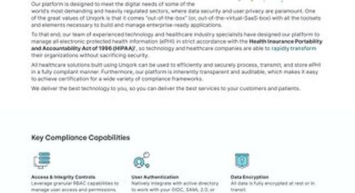 Unqork + HIPAA Compliance