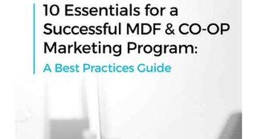 10 Essentials for a Successful MDF & CO-OP Marketing Program