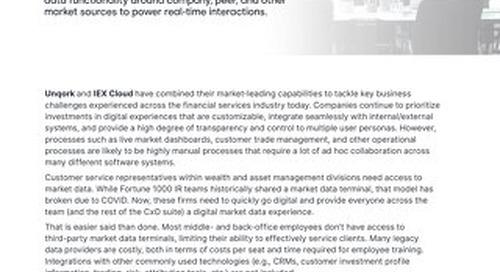 Unqork + IEX Cloud for Financial Services