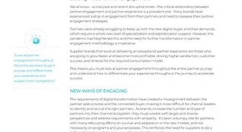 Opportunities to Optimize Partner Engagement