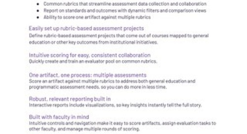 Watermark Outcomes Assessment Projects Flyer