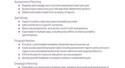 Watermark Planning & Self Study Flyer