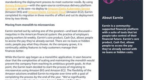 Earnin drives innovation and boosts deployment velocity by 3x with Armory Enterprise and AWS