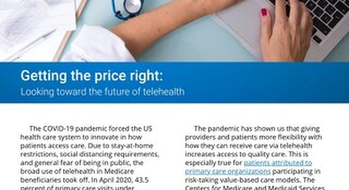 Getting the Price Right: Looking Toward the Future of Telehealth