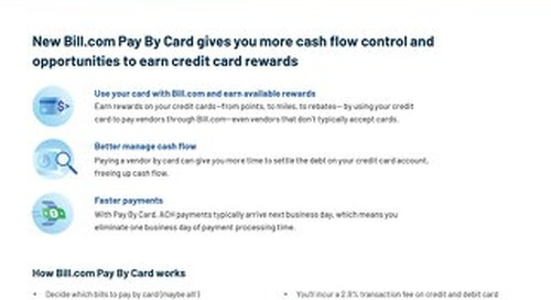 Bill.com Pay By Card Accountant Client Information Sheet