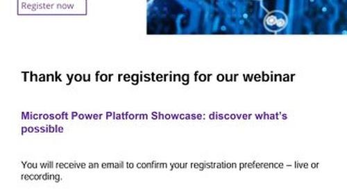 Live Webinar: Microsoft Power Platform Showcase: discover what's possible