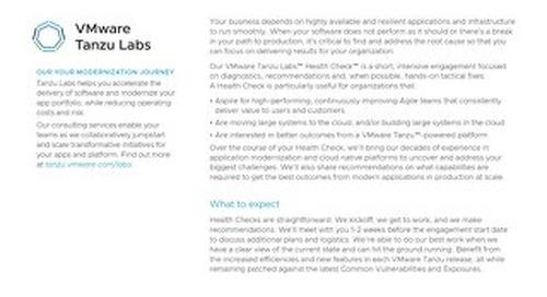 VMware Tanzu Labs Health Check