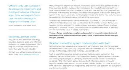Modernize Complex Systems with VMware Tanzu Labs