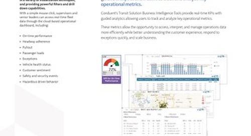 Transportation Business Intelligence KPI Dashboard