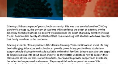 Supporting Grieving Students During the COVID-19 Pandemic