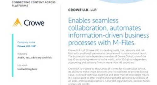 Case Study: Crowe UK LLP