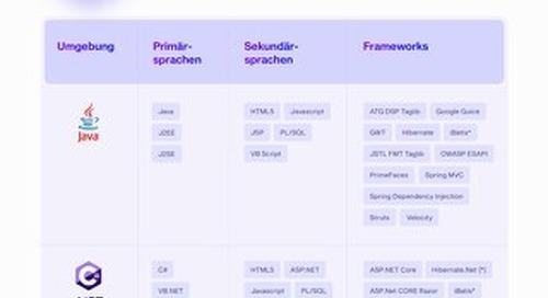 CxSAST Integration German Supported Languages Datasheet