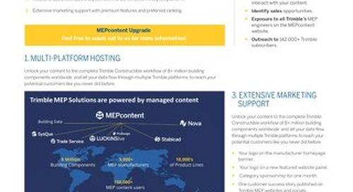 MEPcontent Service Upgrades Datasheet
