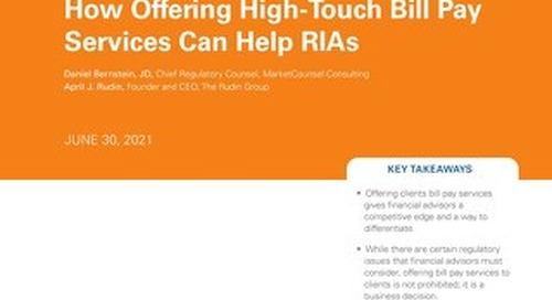 Executive Summary - How High-Touch Bill Pay Services Can Help Registered Investment Advisors