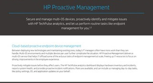 HP Proactive Management - Solution Brief