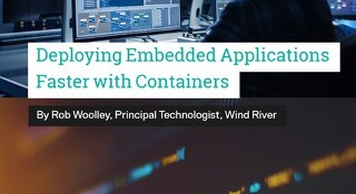 Deploying Embedded Applications Faster with Containers