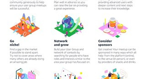 AWS User Group Summit - Community Best Practices (Infographic)