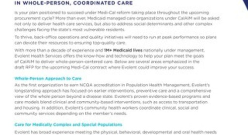 California Medicaid: Medi-Cal Reform