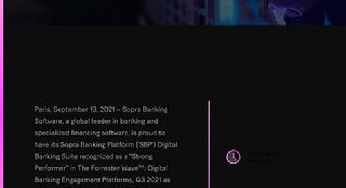 SBS named 'Strong Performer' in Digital Banking Engagement