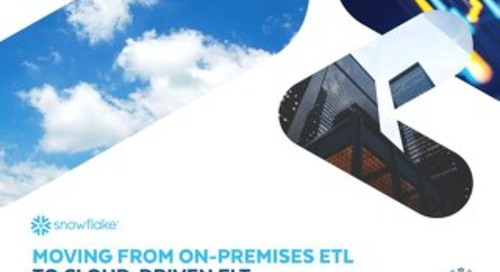 Moving from On-Premises ETL to Cloud-Driven ELT