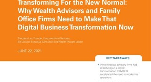 Transforming For the New Normal