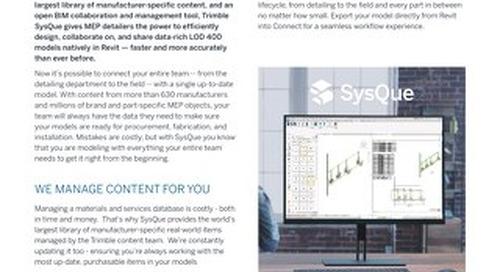 SysQue Datasheet