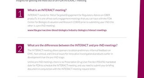 What to know about FDA INTERACT meetings