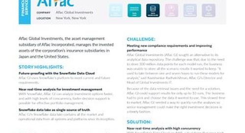 Aflac Global Investments Uses Snowflake To Speed Up Investments Analysis