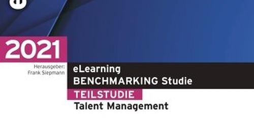 eLearning BENCHMARKING Studie - Teilstudie Talent Management
