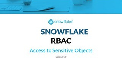 Snowflake Pattern - Security - Access to Sensitive Objects